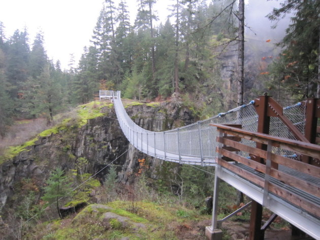 Suspension Bridge in Campbell River