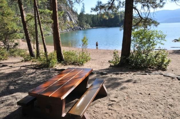 Ellison Provincial Park South Beach Okanagan camping campground BC Parks